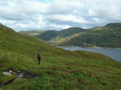Rock Climbing Photo: L.Armstrong arriving back at Loch Mullardoch