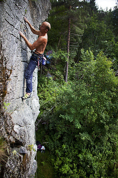 Rock Climbing Photo: Romsdal climbing