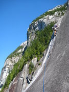 Rock Climbing Photo: instant exposure on this one climbers left. I bela...