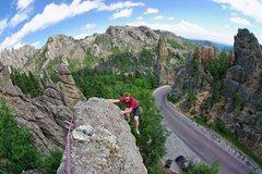 Rock Climbing Photo: Loss of Sensation. Finishing traverse to the ancho...