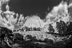 Rock Climbing Photo: Devils Tower. West Face.