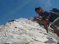Rock Climbing Photo: Geeked out self portrait on the final portion of P...