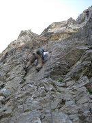 Rock Climbing Photo: Christian Burrell on pitch 1.