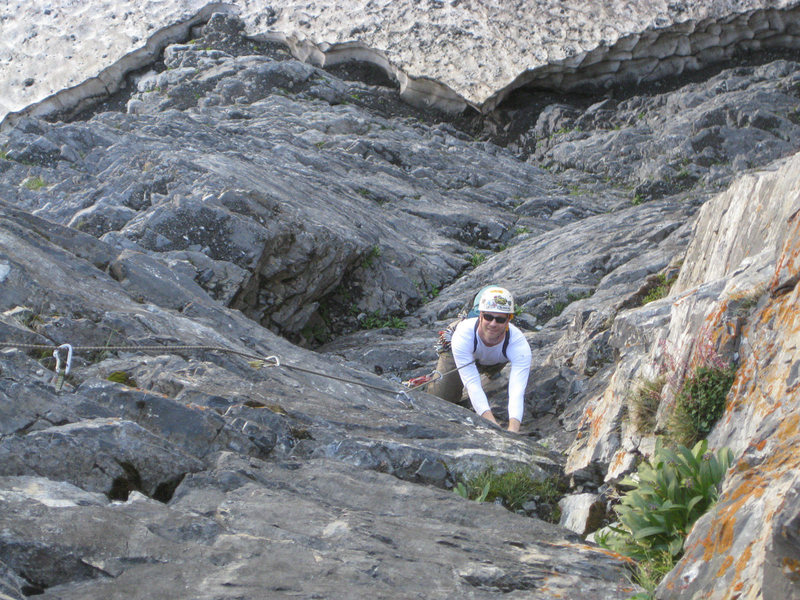 Rock Climbing Photo: p.3. Christian Burrell following. Amazing pitch!