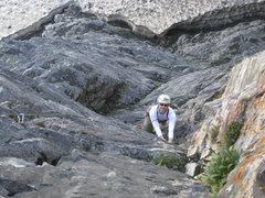 Rock Climbing Photo: p.3. Christian Burrell following. Amazing pitch!
