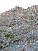 Rock Climbing Photo: Pitch 4. Christian Burrell leading.