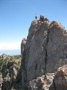 Rock Climbing Photo: The true summit of Devil's Castle. Photo taken fro...