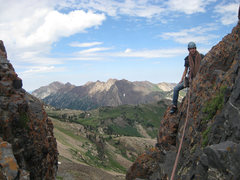 Rock Climbing Photo: This is the little traverse from the last anchors ...