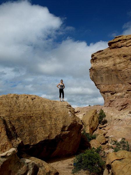 Rock Climbing Photo: Topout shot