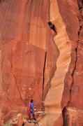 Rock Climbing Photo: Super belay techniques.