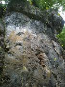 Rock Climbing Photo: A Wall, Pictured Rocks, Iowa. 1 - Herding Sheep (5...