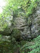 Rock Climbing Photo: Angst (5.9), Pictured Rocks, Iowa.
