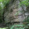 Mild Iowa Wall, Pictured Rocks, Iowa. 1 - Jugular (5.8), 2 - Mild Iowa (5.8), 3 - Whipper Snapper (5.8).