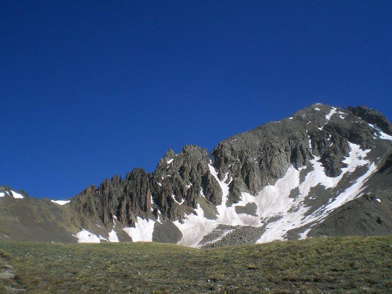 Rock Climbing Photo: Mt. Sneffels, The San Juans - Driving a Honda Civi...