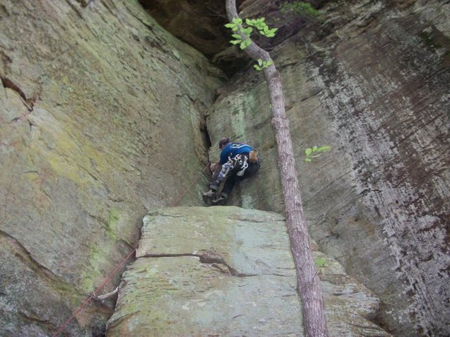 Rock Climbing Photo: Starting the second section of Live to climb anoth...