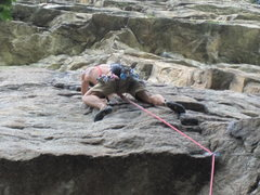 Rock Climbing Photo: MF Direct. (going straight up after the crux inste...