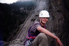 Rock Climbing Photo: Enjoying a misty day on top of the Bookmark on Lum...