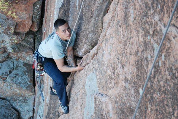 Rock Climbing Photo: me top roping crazy alice