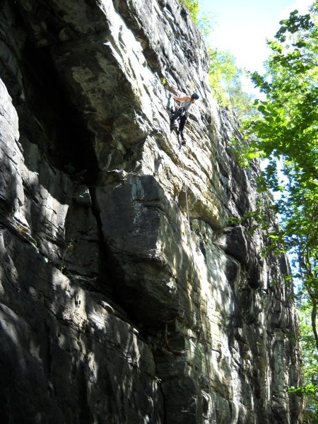 Malvika, overhanging jugs from 5.10 to 5.13. This climb is 11a