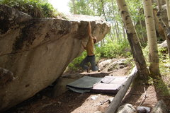 Rock Climbing Photo: Jables sticking the dyno and sending. Photo: L. Bo...