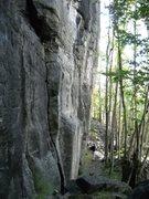 Rock Climbing Photo: Looking down steep wall Marvik