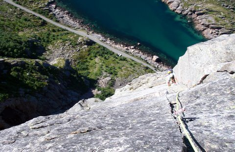 Rock Climbing Photo: Vestpillaren, The Slanting Corner