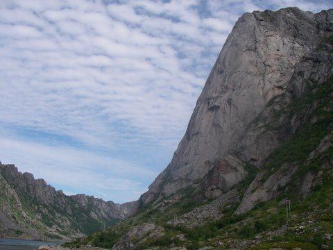 Rock Climbing Photo: Presten, towering above the sea.