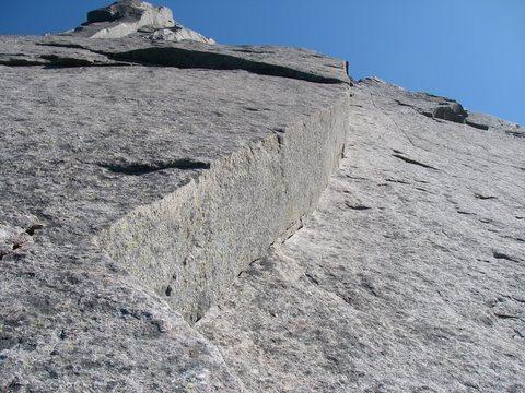 Rock Climbing Photo: The Slanting Corner.