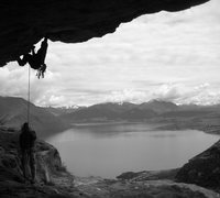 Rock Climbing Photo: Proud Monkey Roof - Wye Creek, Queenstown, NZ.