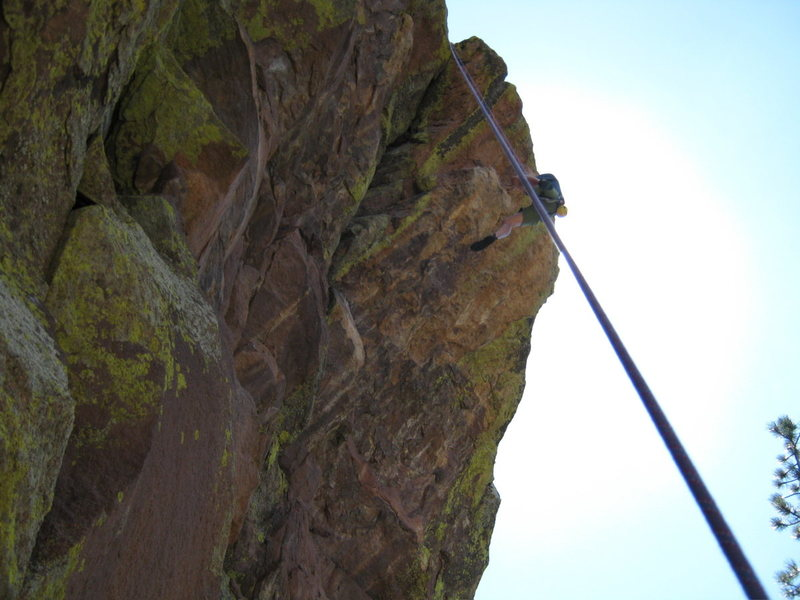 Rock Climbing Photo: Erik takes the big swing! This is how far away fro...