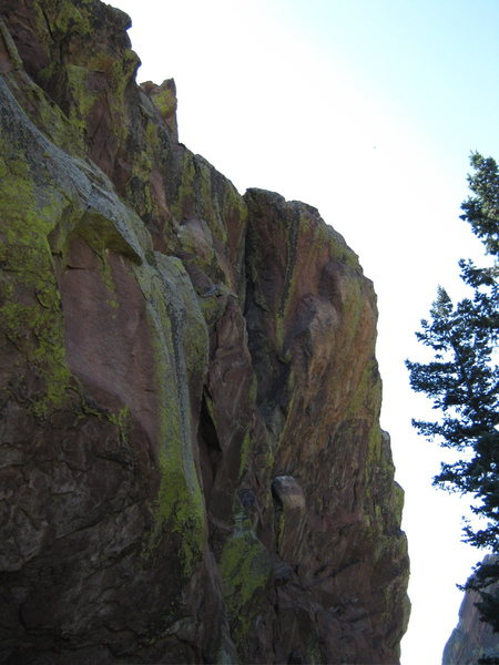Rock Climbing Photo: Your first view as you come around the corner. Ste...