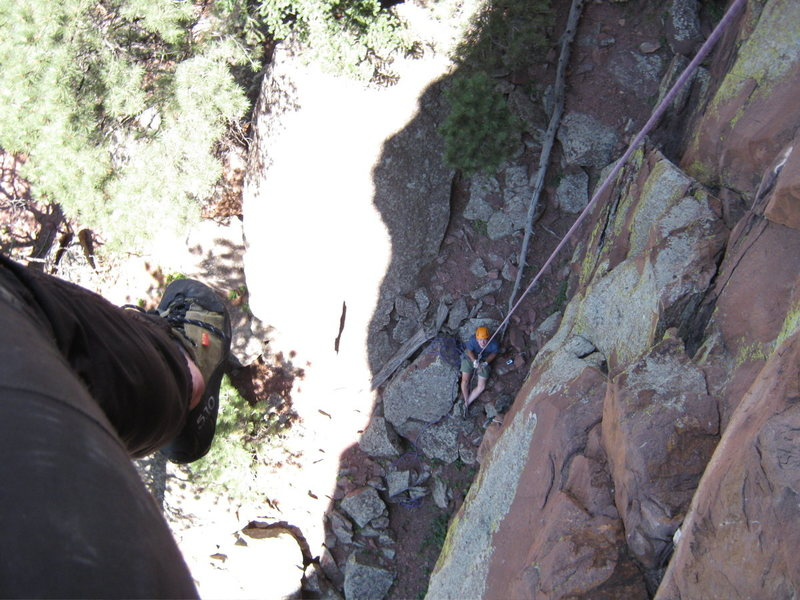 Rappelling or lowering off is exciting!