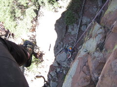 Rock Climbing Photo: Rappelling or lowering off is exciting!