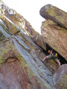 Rock Climbing Photo: Erik W leading Pack Rat.
