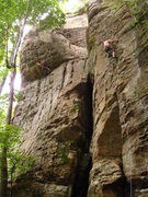 Rock Climbing Photo: someone on steal the bacon on the left, me on the ...