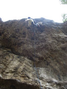Rock Climbing Photo: Me exiting the hole on the super steep Beeleave.