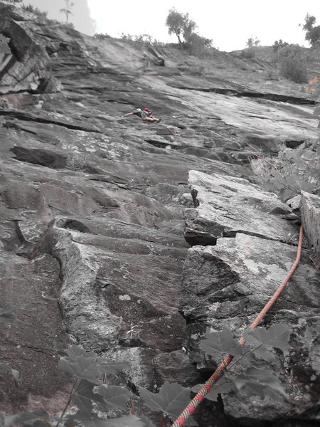 Rock Climbing Photo: First pitch of Inferno, as best i could figure out...