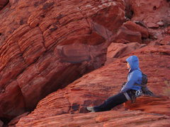 Rock Climbing Photo: Calico at sunset