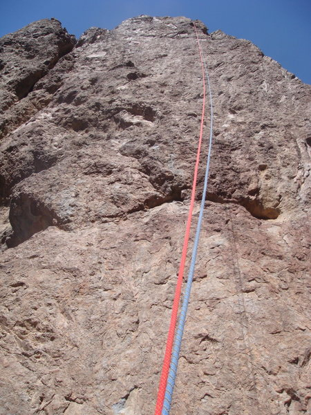 Rock Climbing Photo: Used two 60m ropes for rappel.