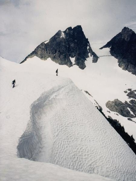Climbing in the Tantalus Range NW of Squamish in June 1998.