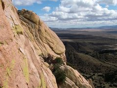 Rock Climbing Photo: View from up on Peacemaker, Sheepshead, Cochise St...