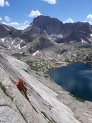 Rock Climbing Photo: My son Zack Wolfe down low on the early easy secti...