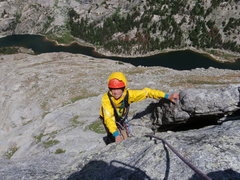 Rock Climbing Photo: Climbing the North ridge route of Haystack