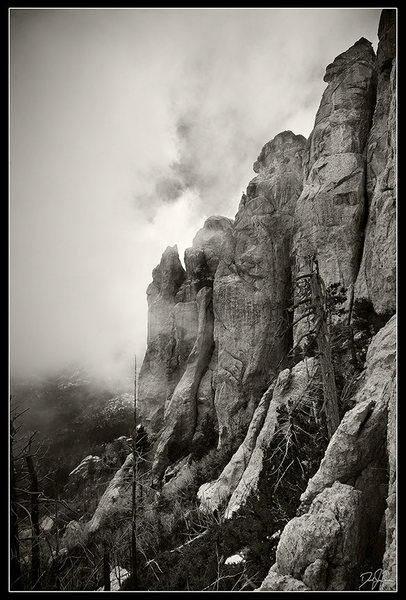 Rock Climbing Photo: The Ravens Shrouded in Mist.  www.flickr.com/theda...