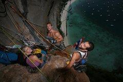 Rock Climbing Photo: Jonas, Ryan, Eliza working on new routes on Tonsai...