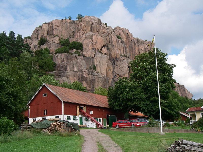 Climbing in the Swedish countryside.