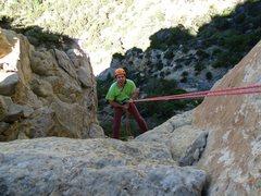 Rock Climbing Photo: second rappel