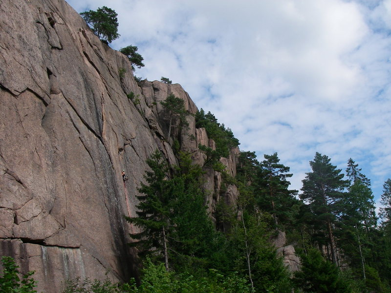 Rock Climbing Photo: Climber on Vilskudd.