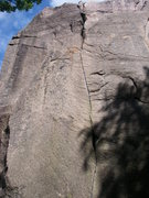 Rock Climbing Photo: The beautiful finger crack of Masken.