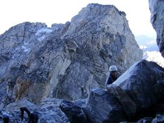 Rock Climbing Photo: Looking west from ledge system above Upper Saddle....